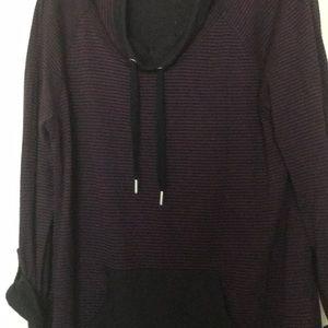 Ladies Purple & Black long sleeve shirt
